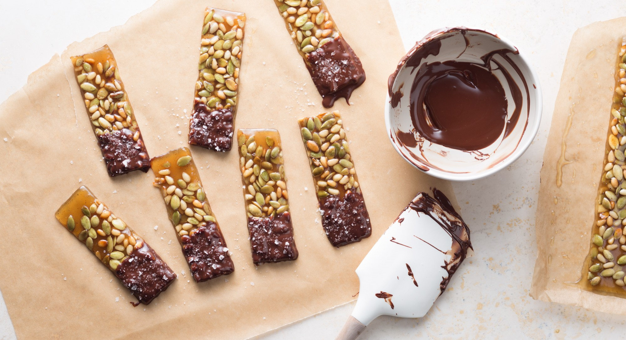 Meet Autumn's Hottest Treat: Chocolate-Covered Pumpkin Seed Brittle