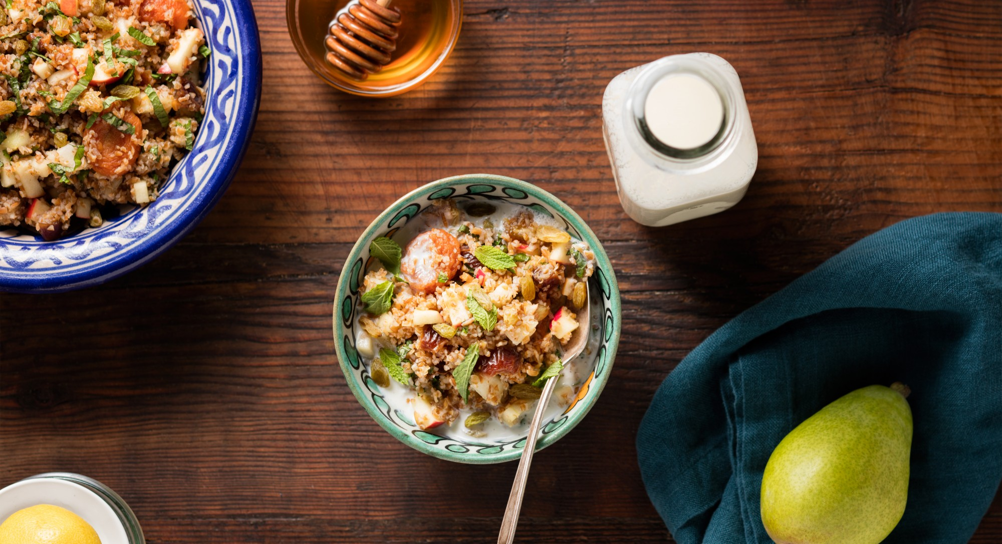 Spice Up Your Breakfast Game With This Fruit-Filled Bulgur Wheat Porridge