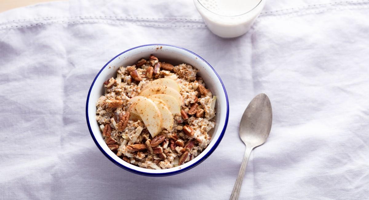 Apple pie overnight oats