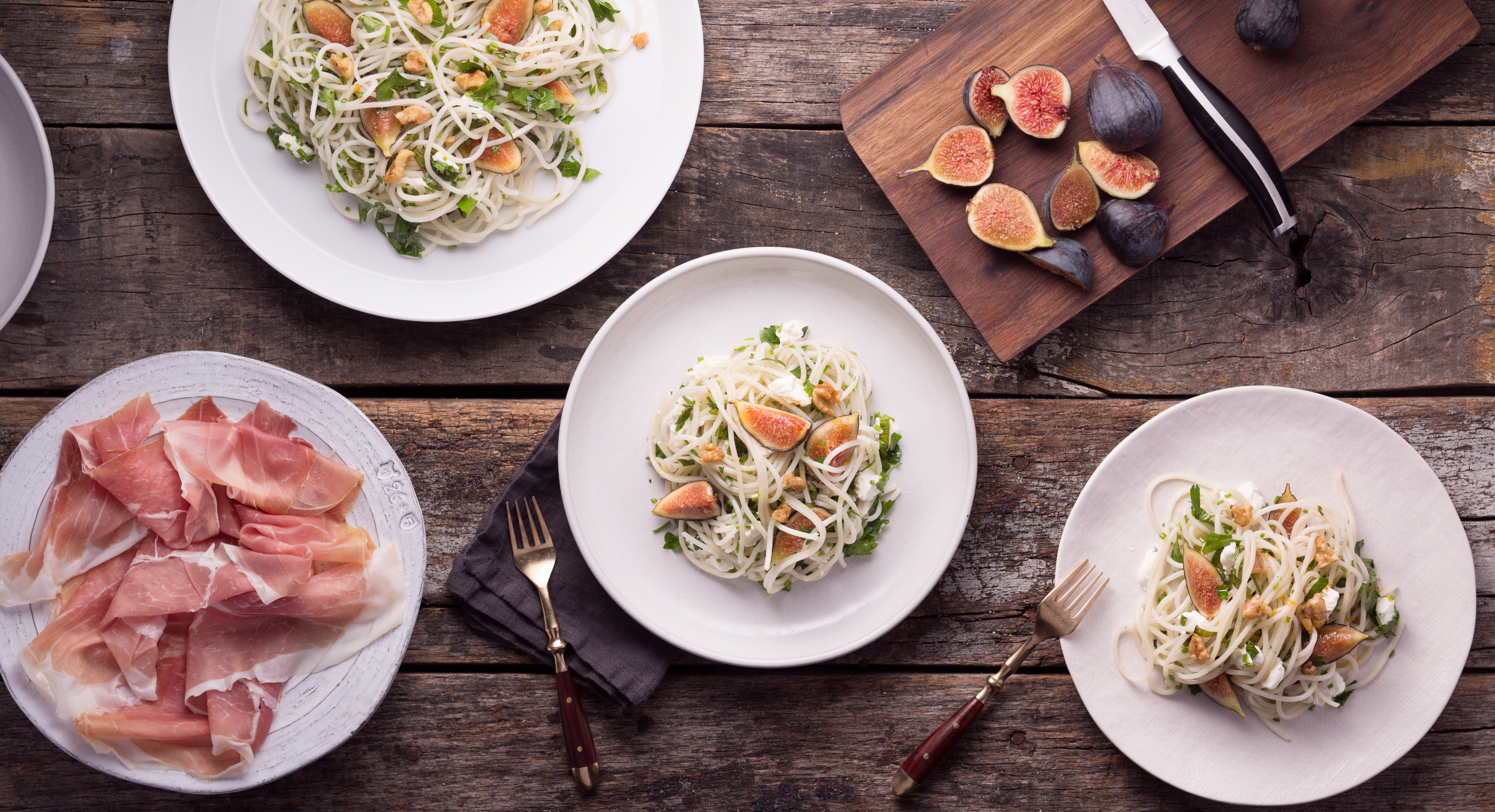 Creamy Goat Cheese and Figs Make This Simple Pasta Dish Divine