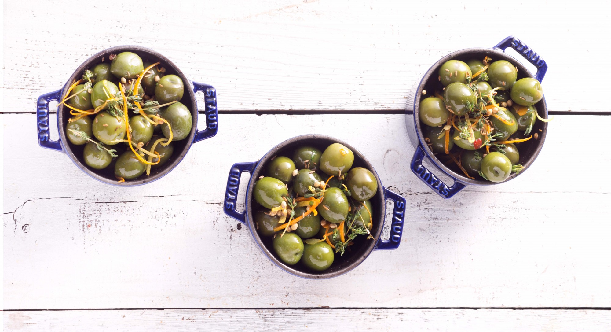 Green Olives Marinated in Spices Make an Elegant Holiday Appetizer