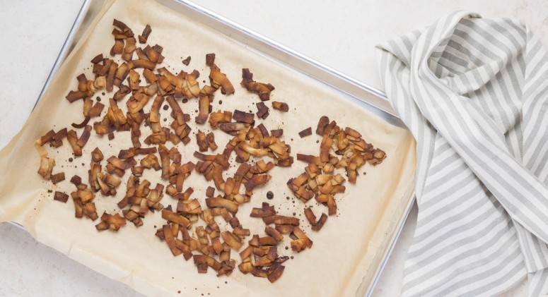 The Easiest 3-Ingredient Recipe for Vegan Coconut Bacon