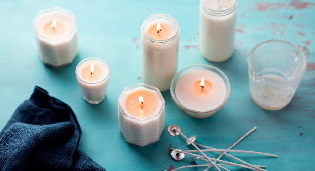 DIY holiday candles