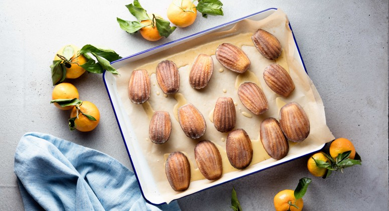 Sweet Orange and Aromatic Cardamom Add Wintry Flavor to Madeleines