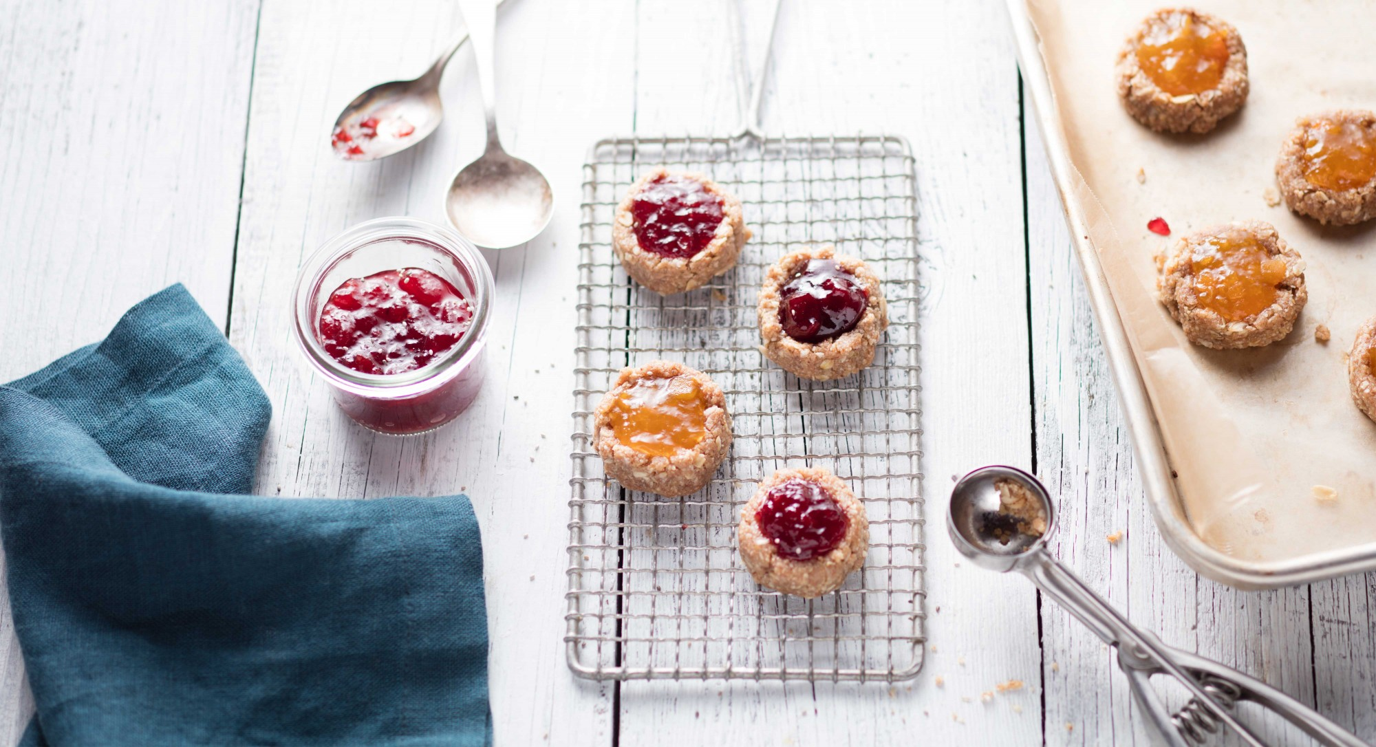 A Classic Reinvented: Raw and Sugar-Free Thumbprint Cookies
