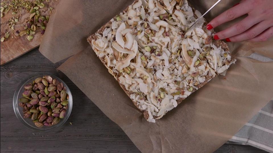 VIDEO: No-Bake Coconut Cashew Date Bars Are a Dream Come True