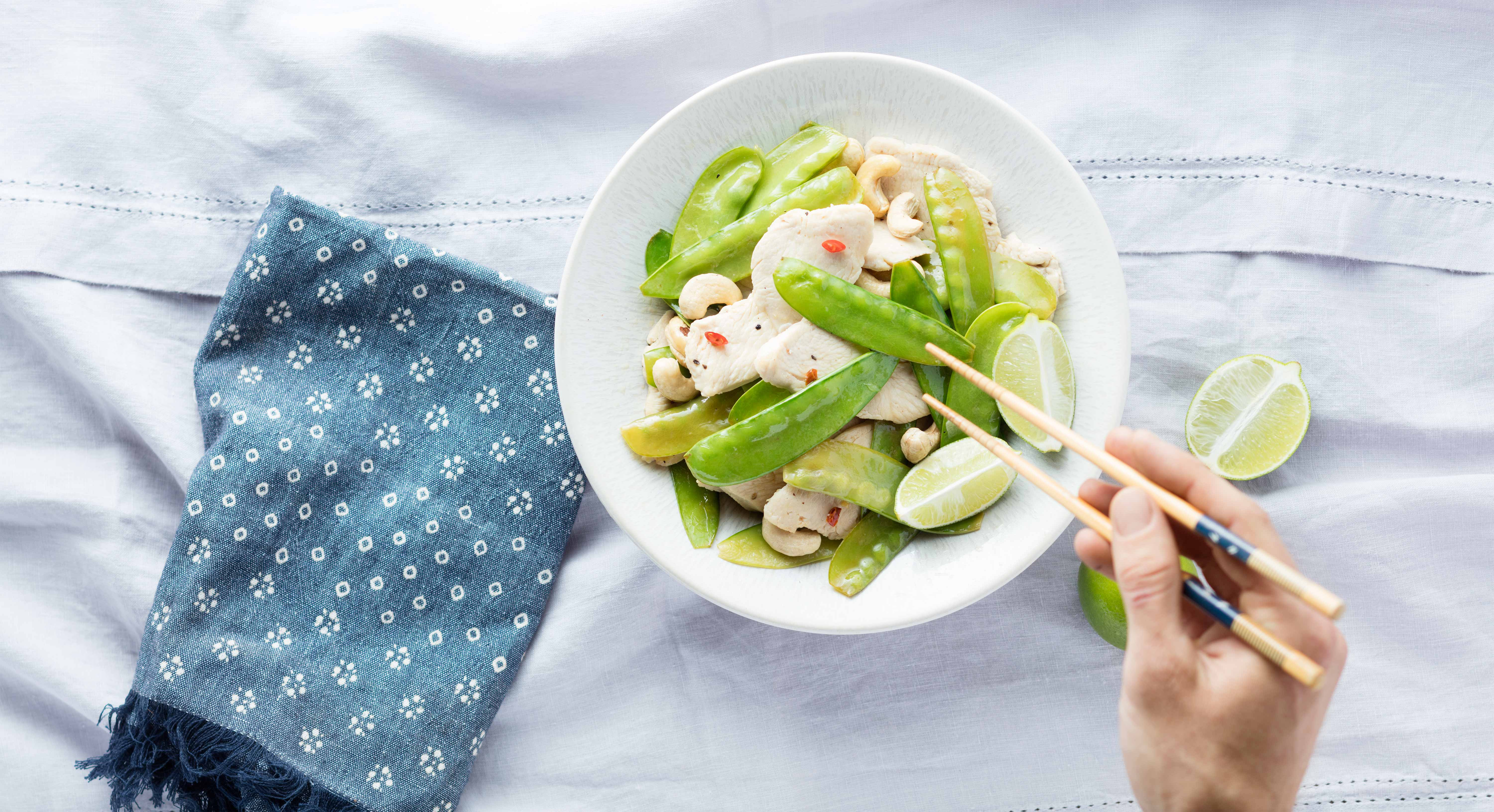 Quicker Than Takeout: A Satisfying Chicken, Cashew, and Lime Stir-Fry