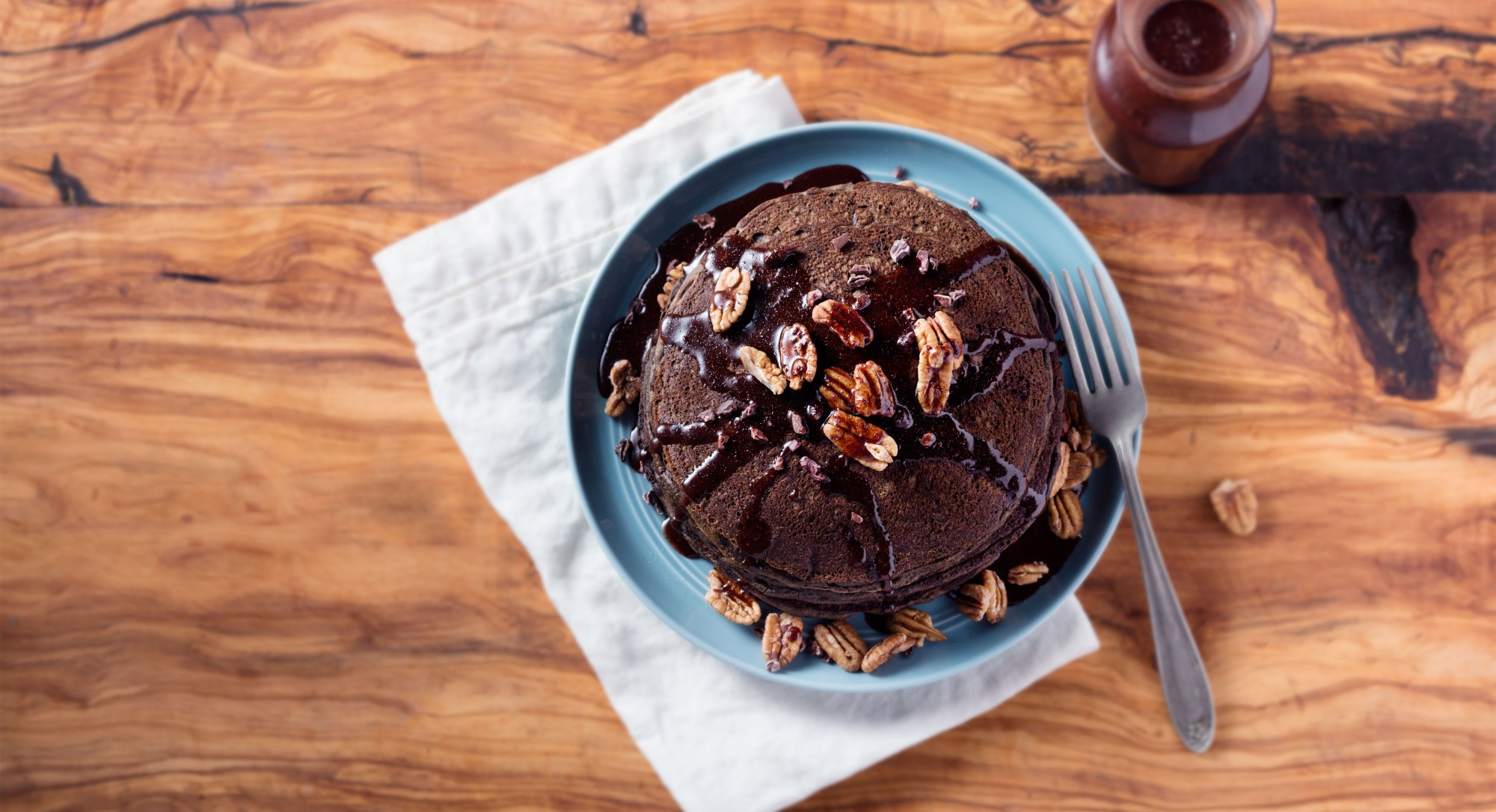 Chocoholics, You Need These Decadent Pancakes in Your Life
