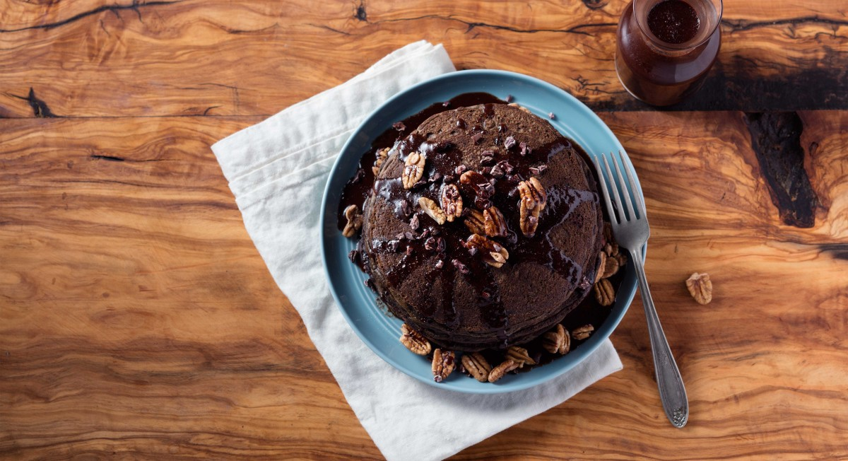 Chocolate-Buckwheat Pancakes
