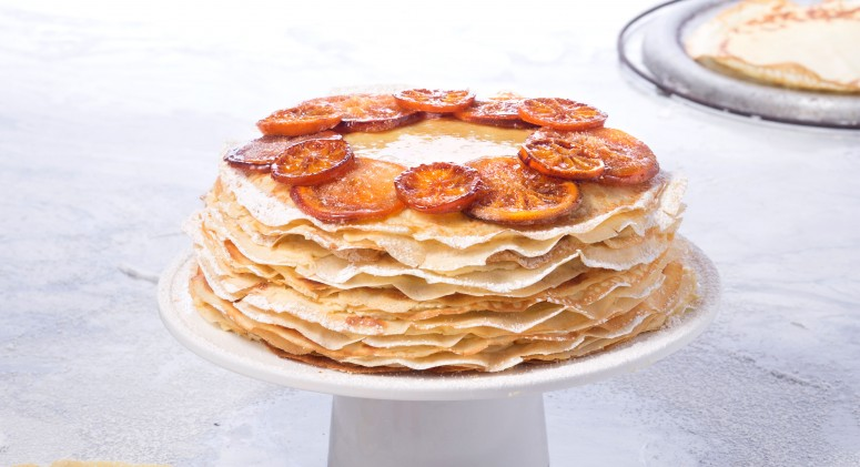 This Mile-High Orange-Frangipane Crepe Cake Is a Work of Art