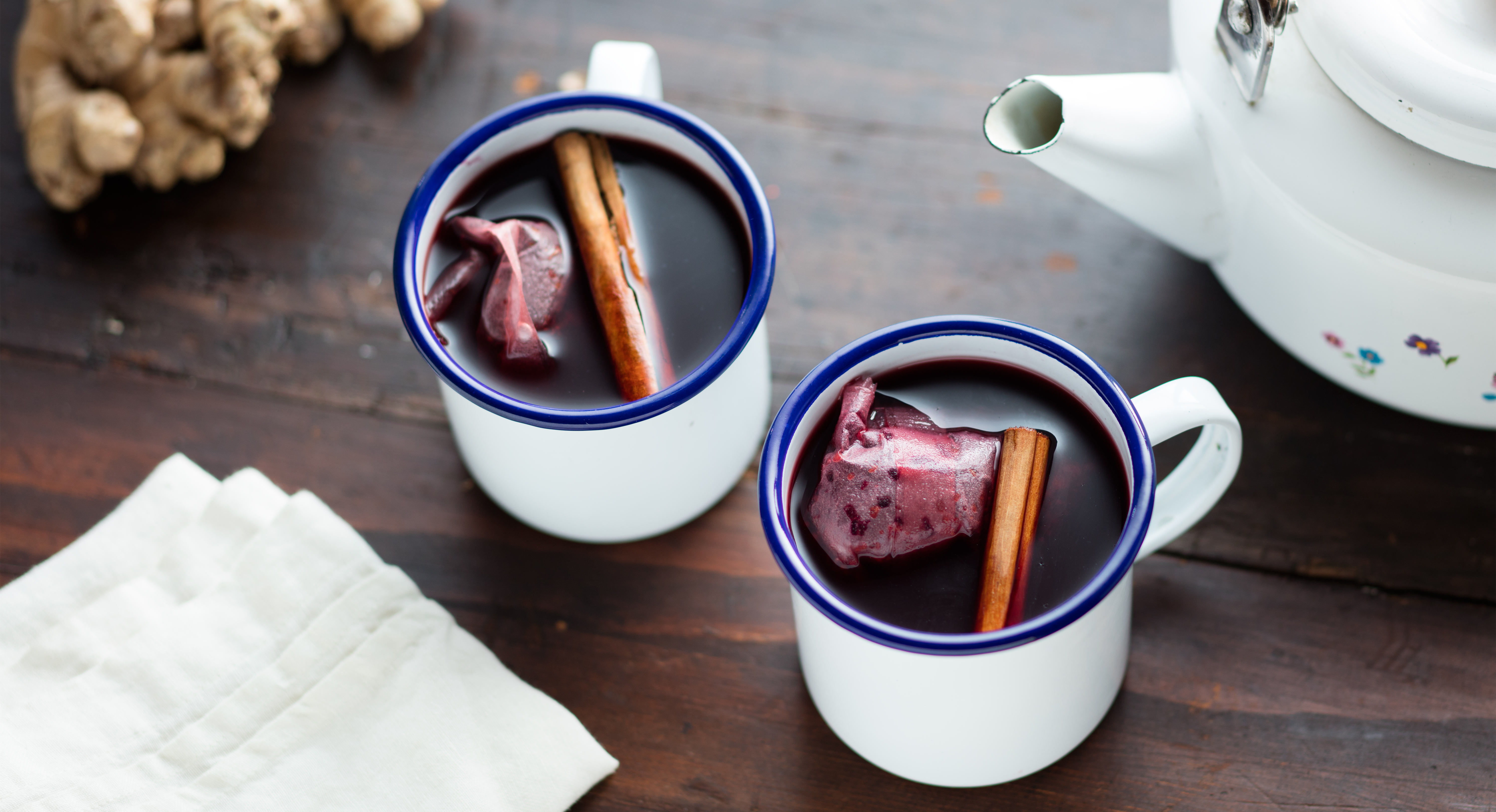 Warm Up This Winter With Spiced Hibiscus-Pomegranate Tea