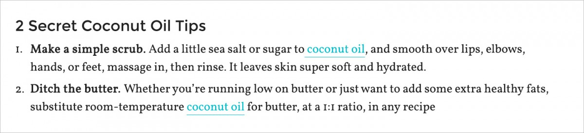 2 secret tips about coconut oil