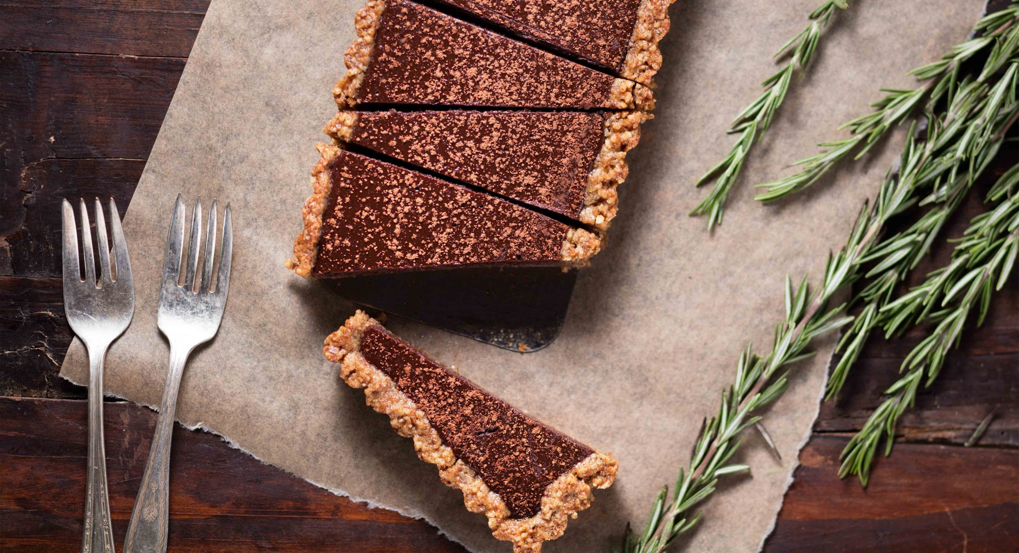 Dark Chocolate–Rosemary Tart Recipe