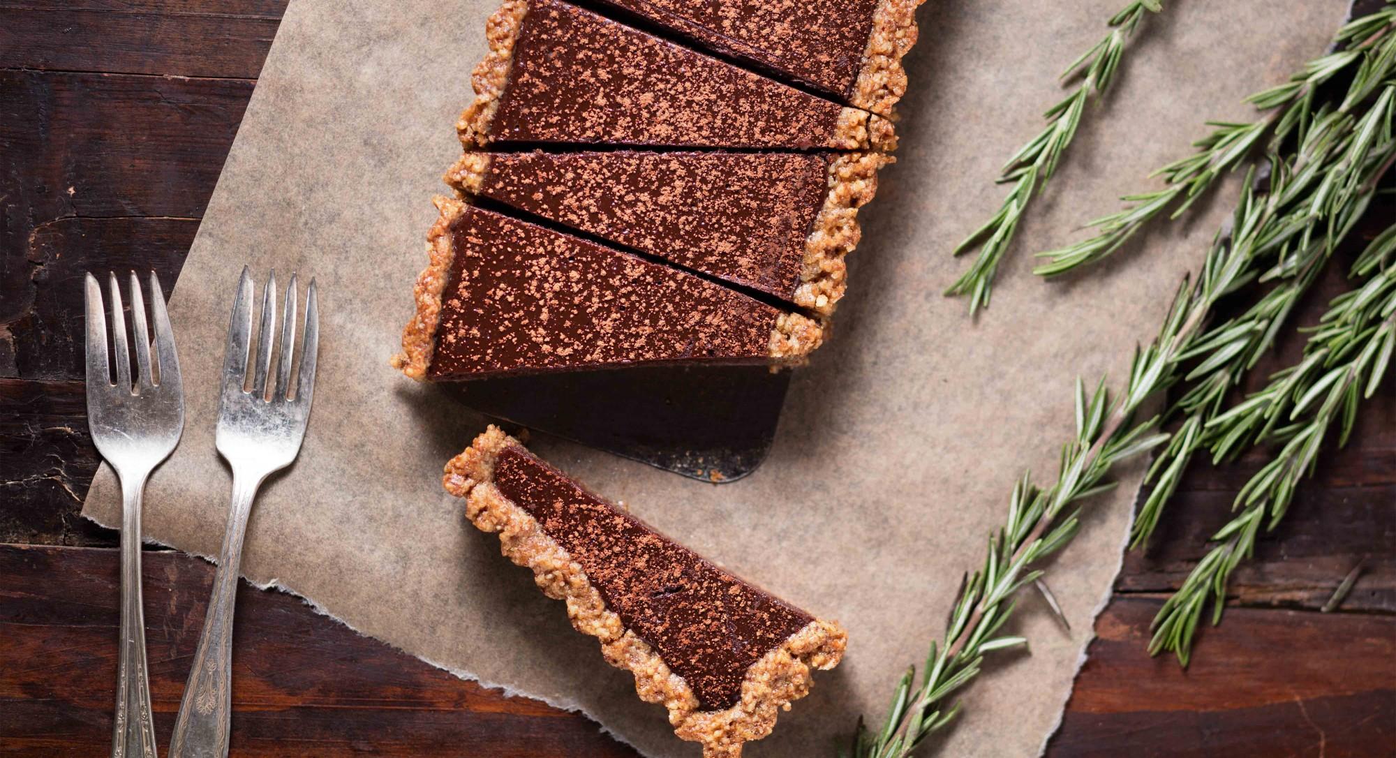 Dark Chocolate–Rosemary Tart Recipe