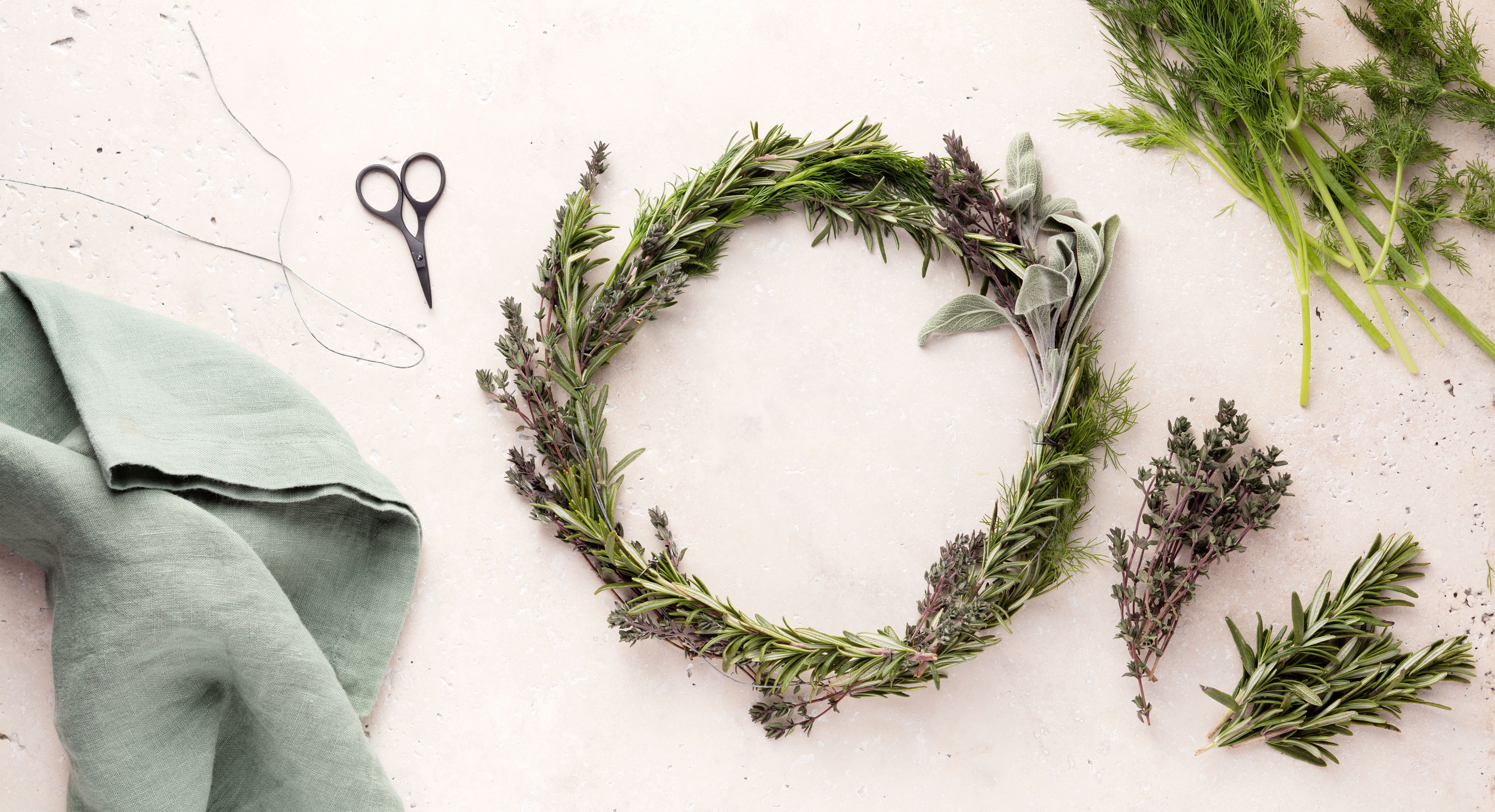 How To Make A DIY Wreath From Fresh Herbs