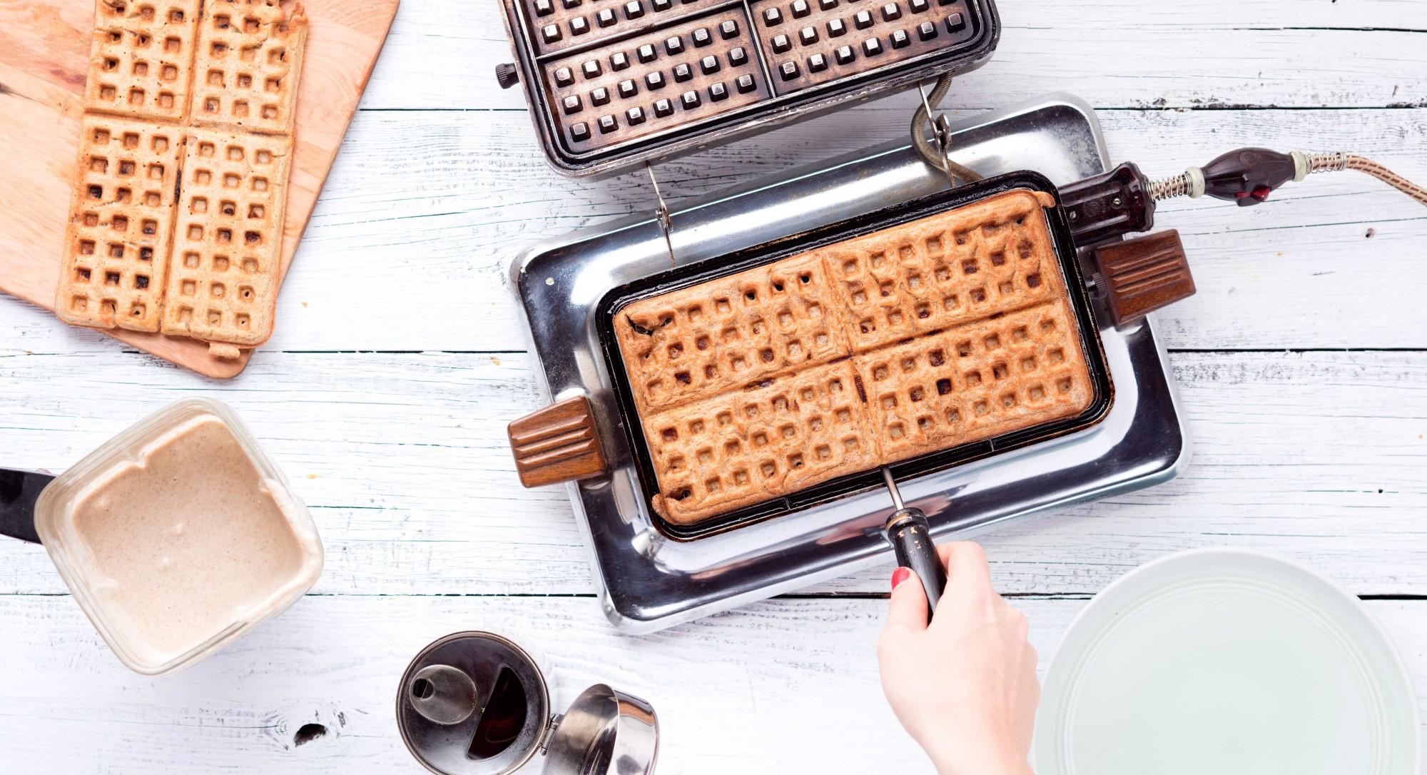 Banana Whole-Wheat Waffles Recipe
