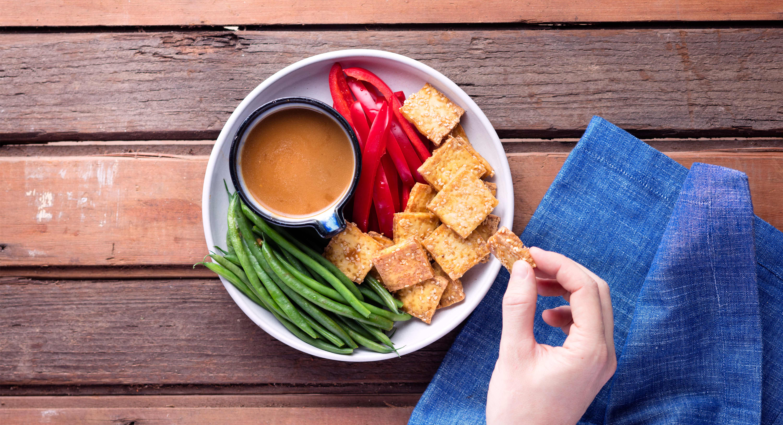 Crispy Tofu With Sesame-Ginger Dipping Sauce Recipe