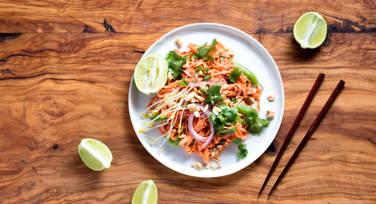 Raw carrot pad thai