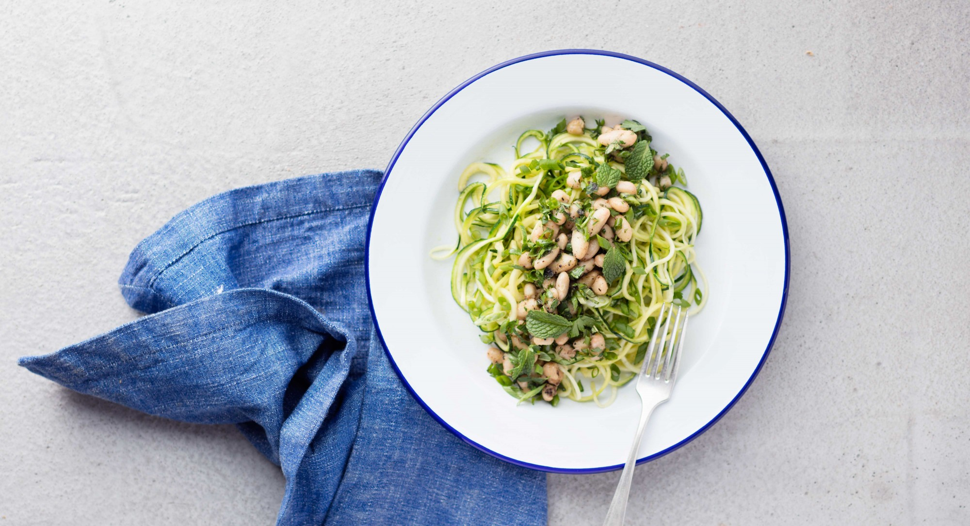 White Bean and Herb Zucchini Noodles Recipe