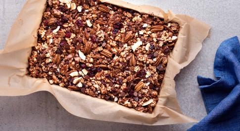 Dark Chocolate Popcorn Bars Recipe