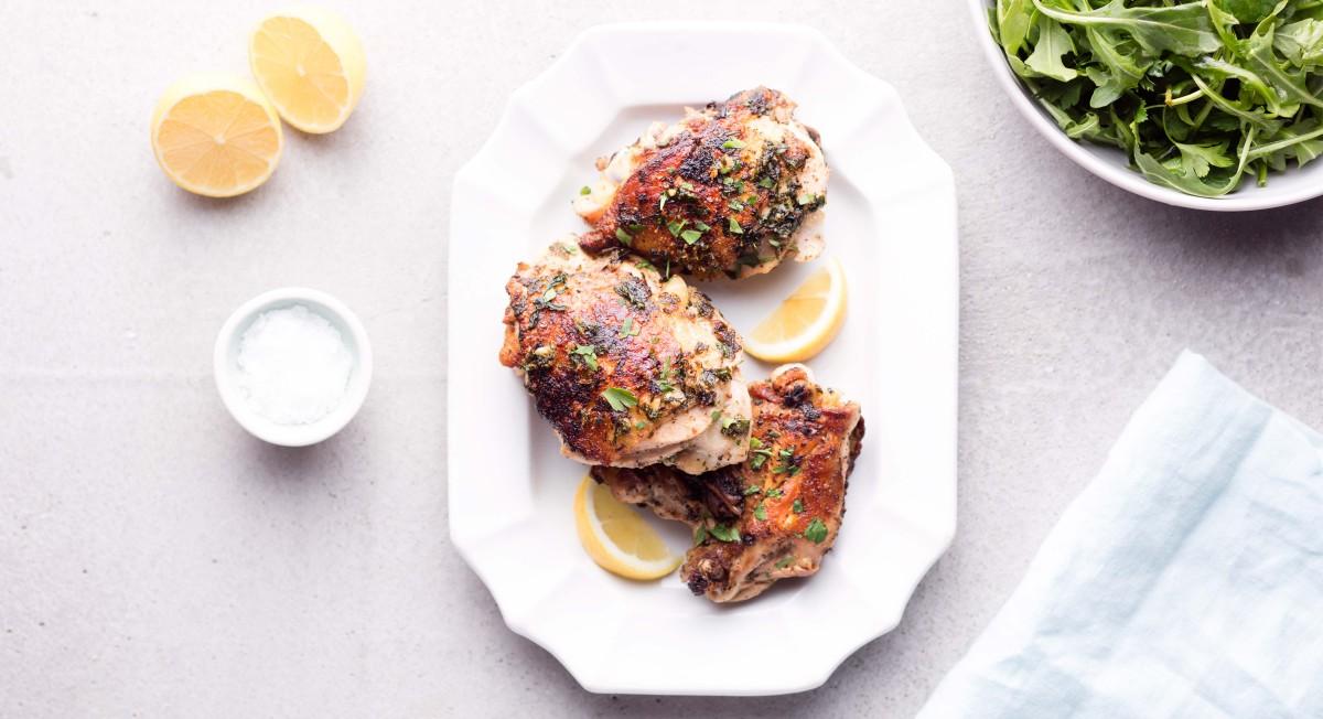 Mustard-herb chicken