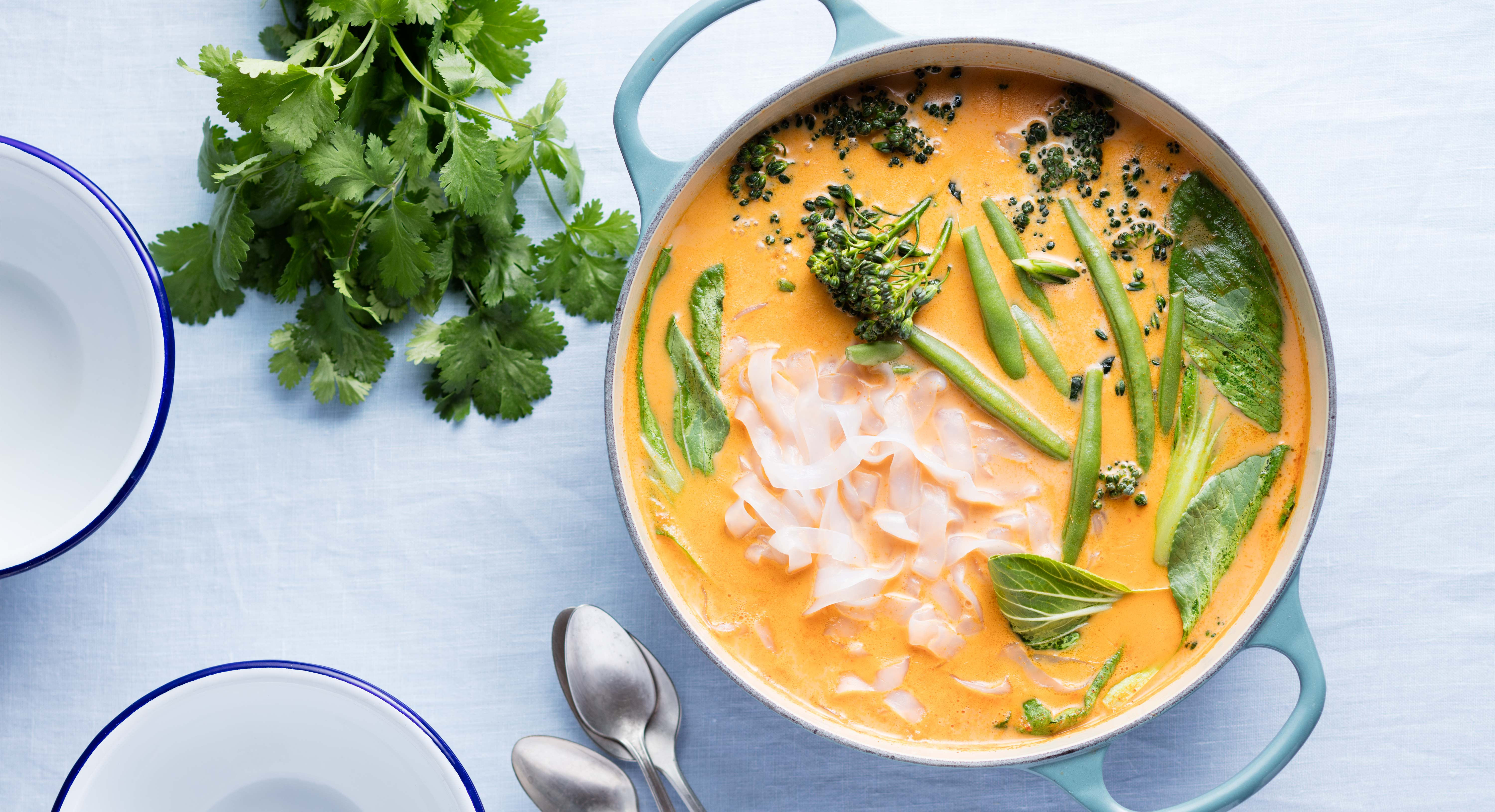 Thai Red Curry With Green Veggies Recipe