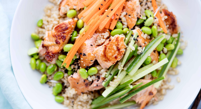 Salmon Brown Rice Salad