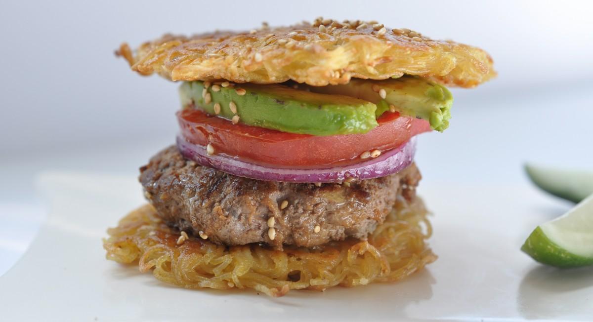 Gluten-free ramen burger