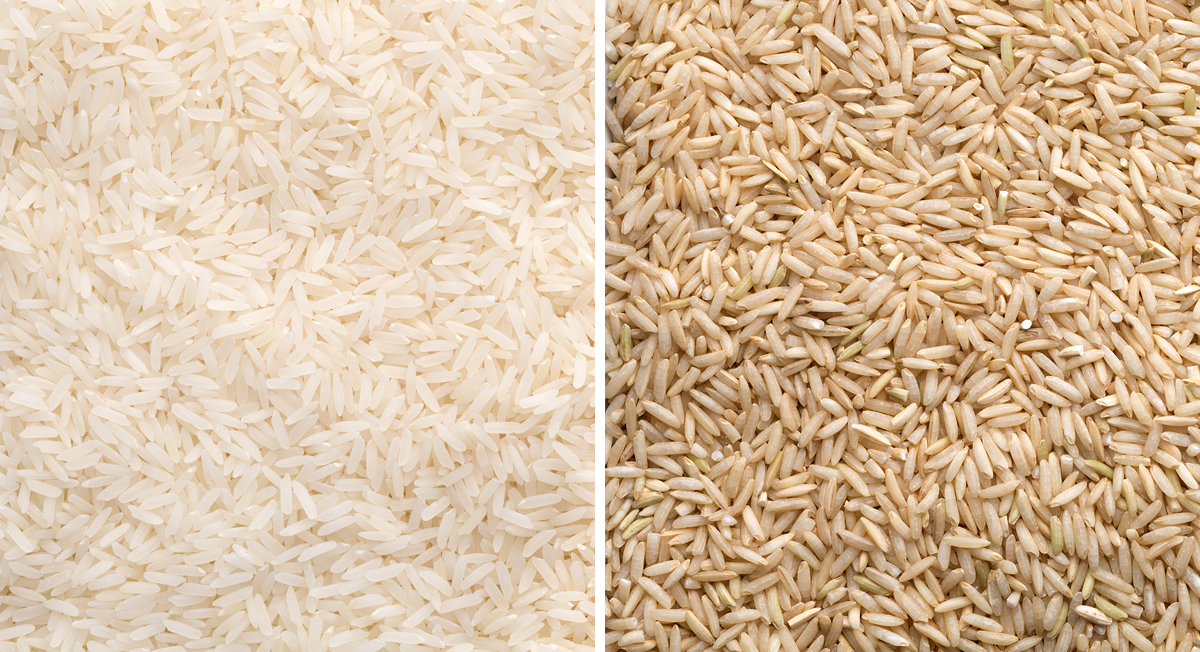 White vs. brown rice