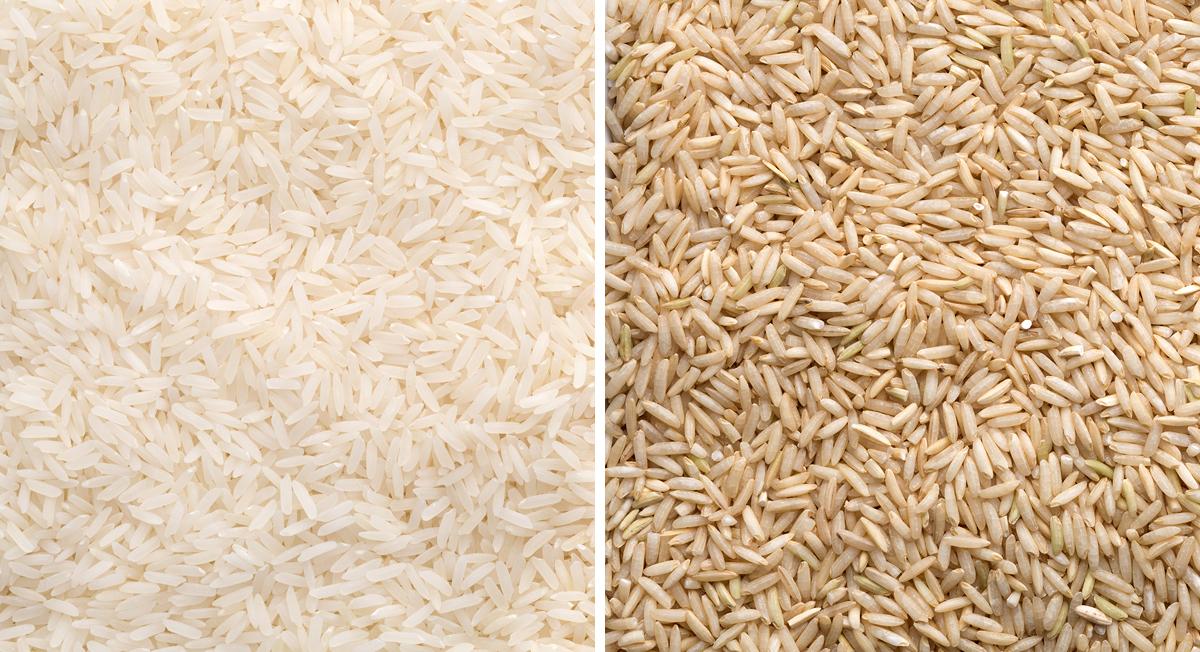 White vs. brown rice