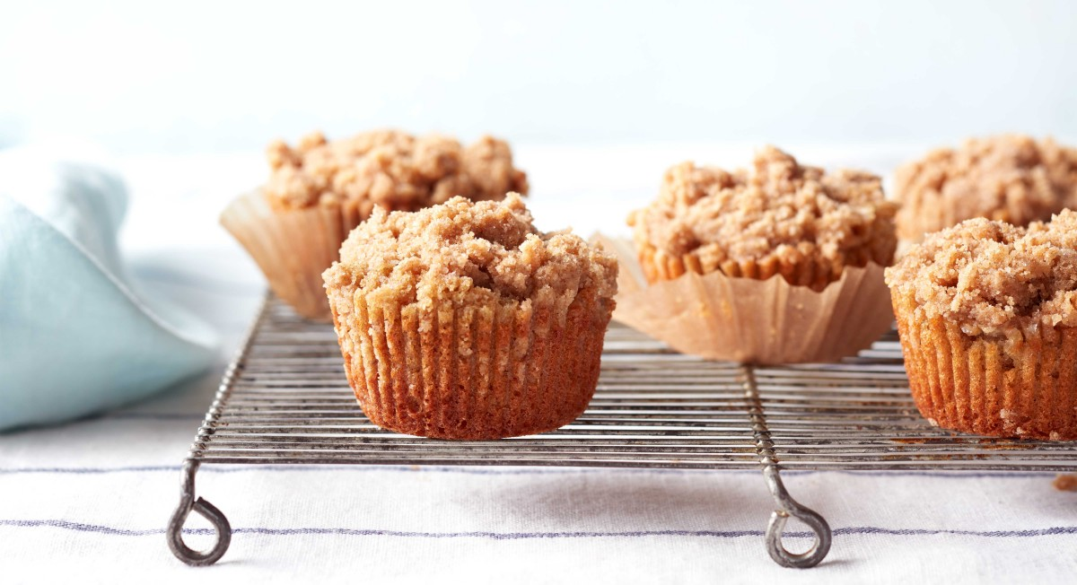 Chai-Spiced Banana Crumb Muffins