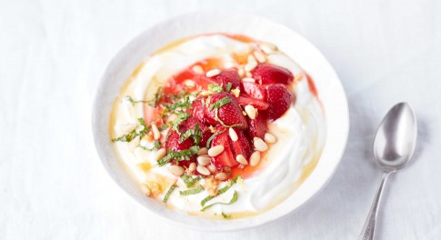 Honey-Macerated Strawberries With Yogurt Recipe