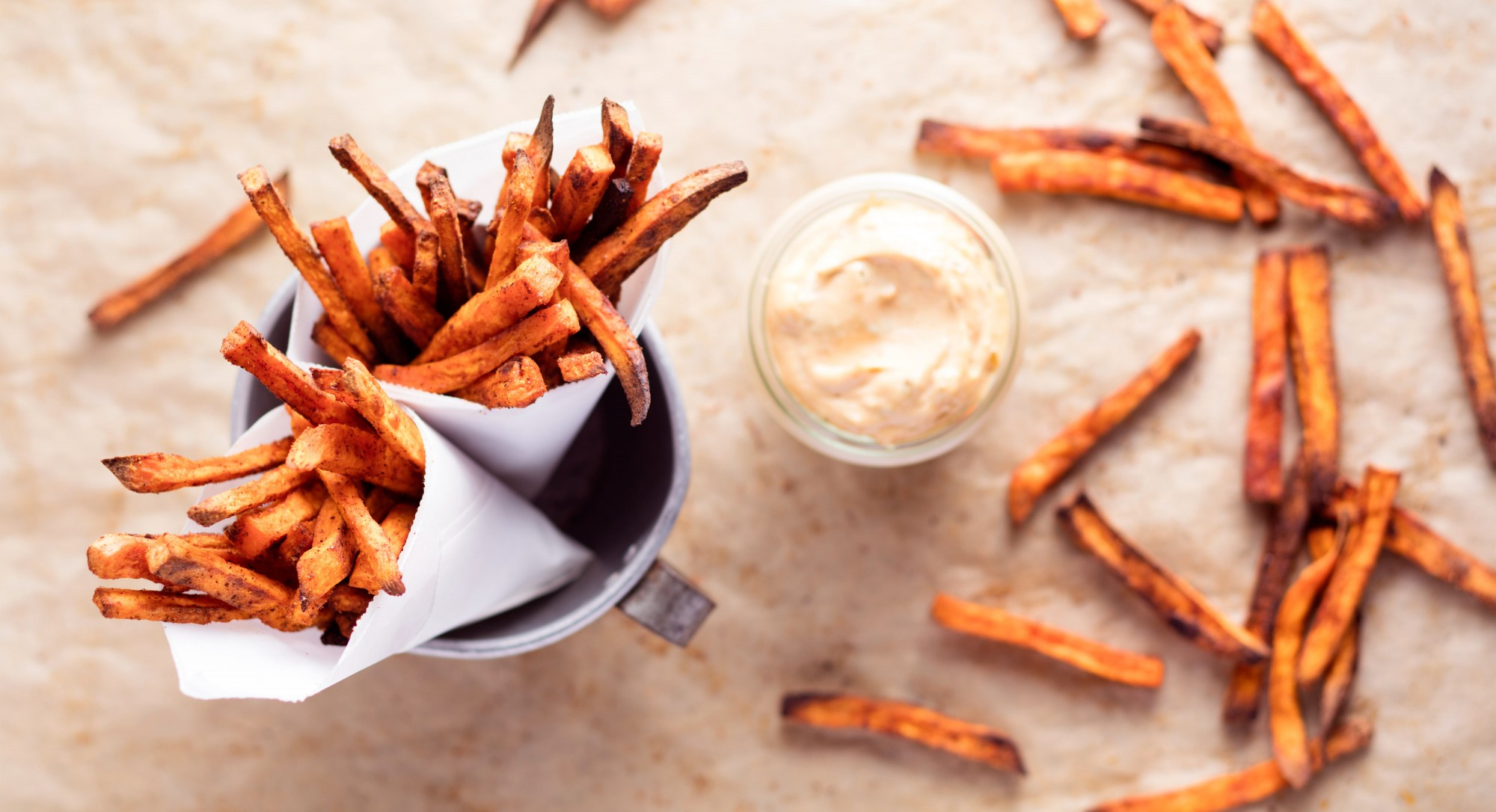 Spicy Sweet Potato Fries With Chipotle Mayonnaise Recipe