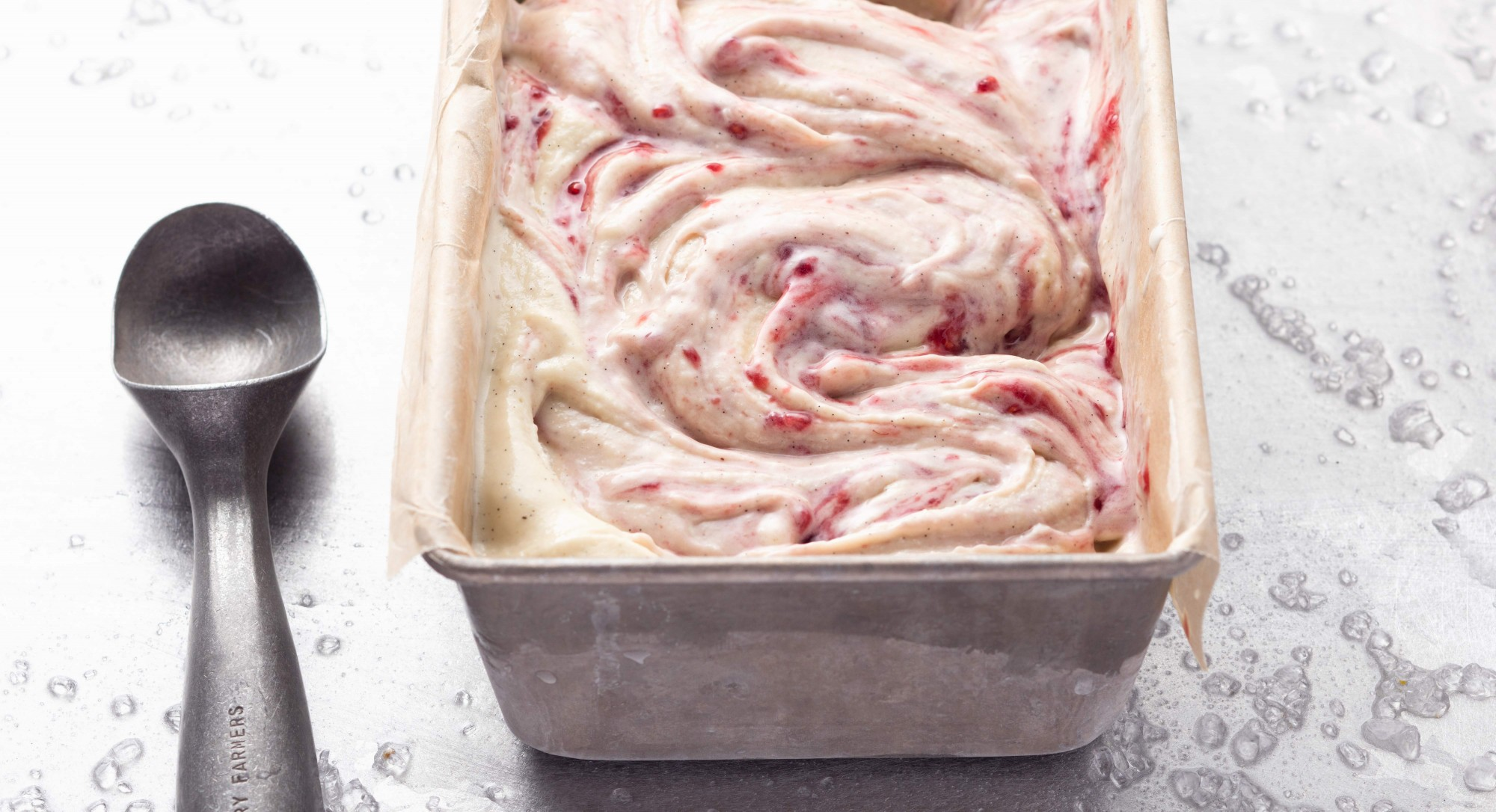 Coconut Ice Cream With Raspberry Swirl Recipe