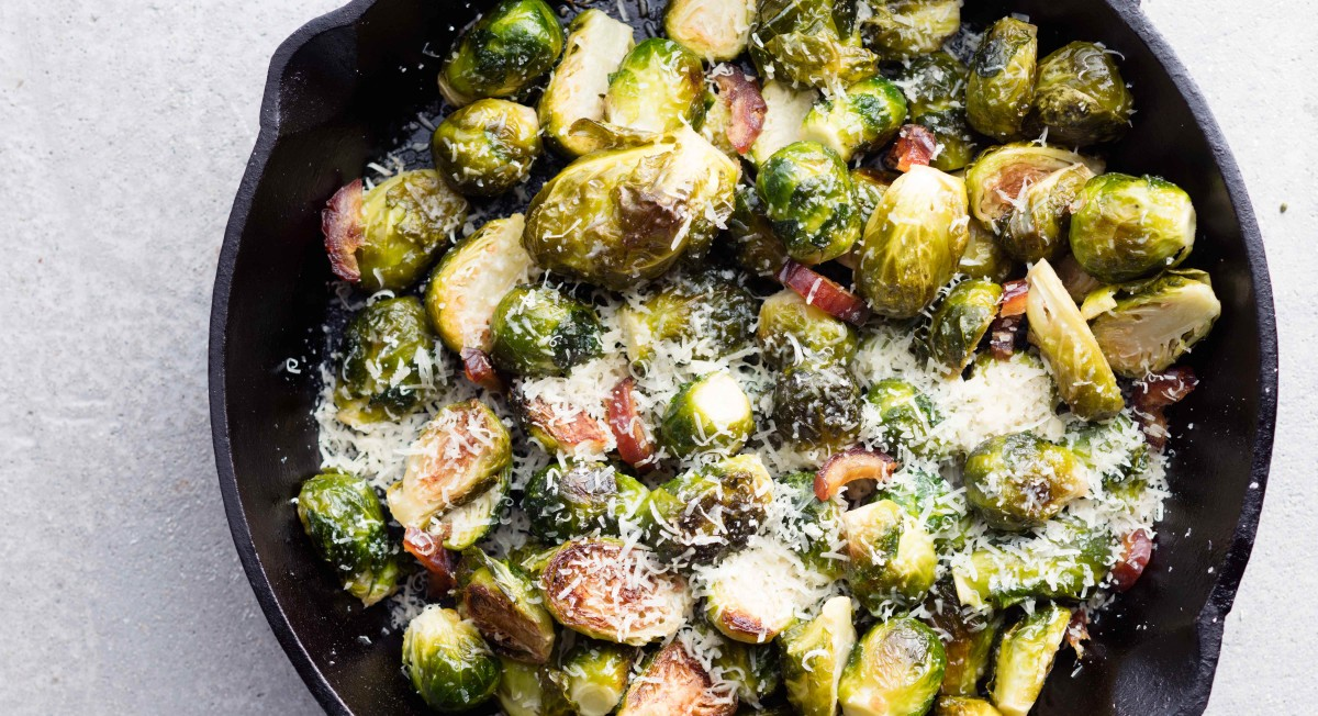 Garlic-lemon roasted Brussels sprouts