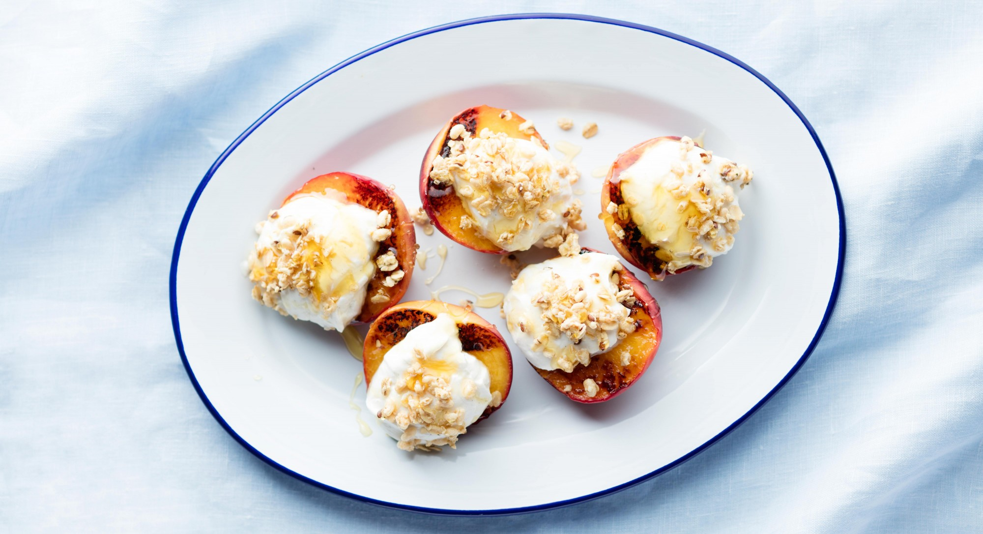 Grilled Peaches With Yogurt and Granola Recipe