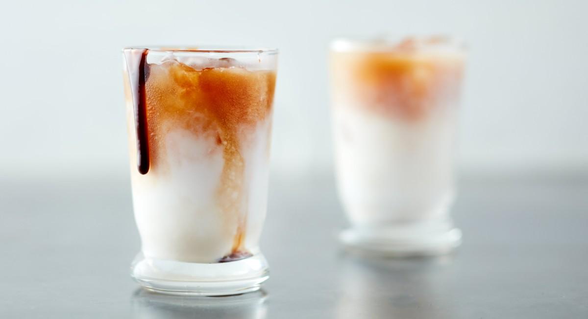 Coconut milk macchiato