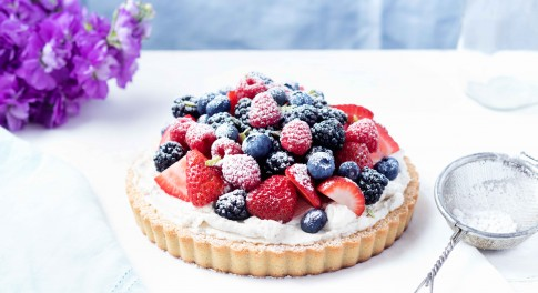 Coconut Cream Berry Tart Recipe