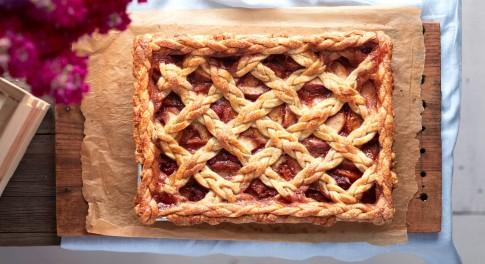 Earl Grey Peach Slab Pie Recipe