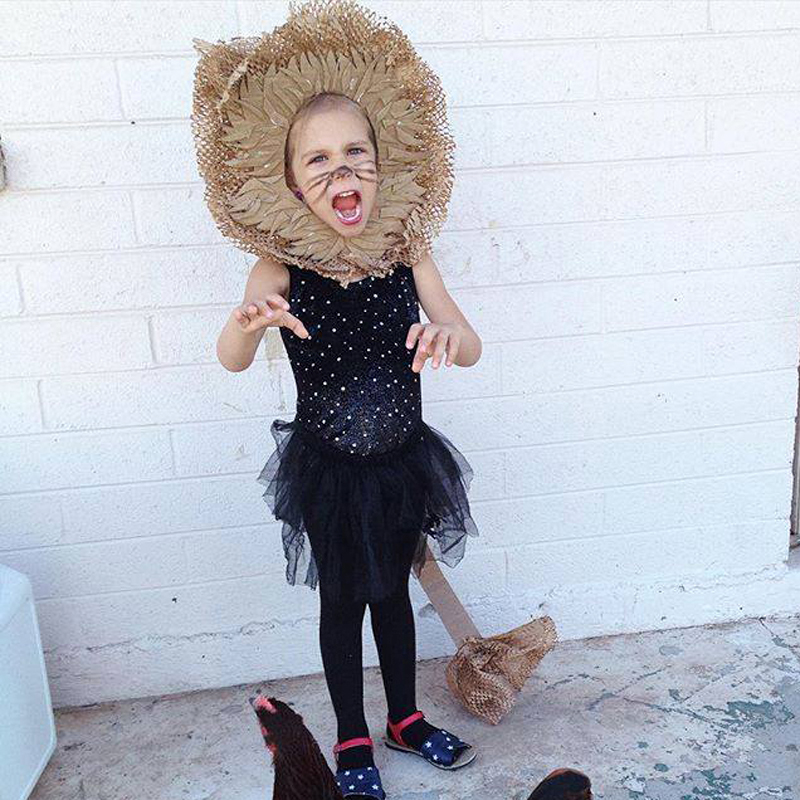 lion costume girl