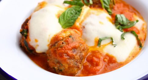 Baked Meatballs With Fresh Mozzarella Recipe
