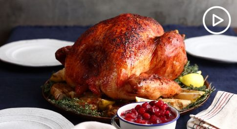 Garlic and Lemon Roasted Turkey Recipe