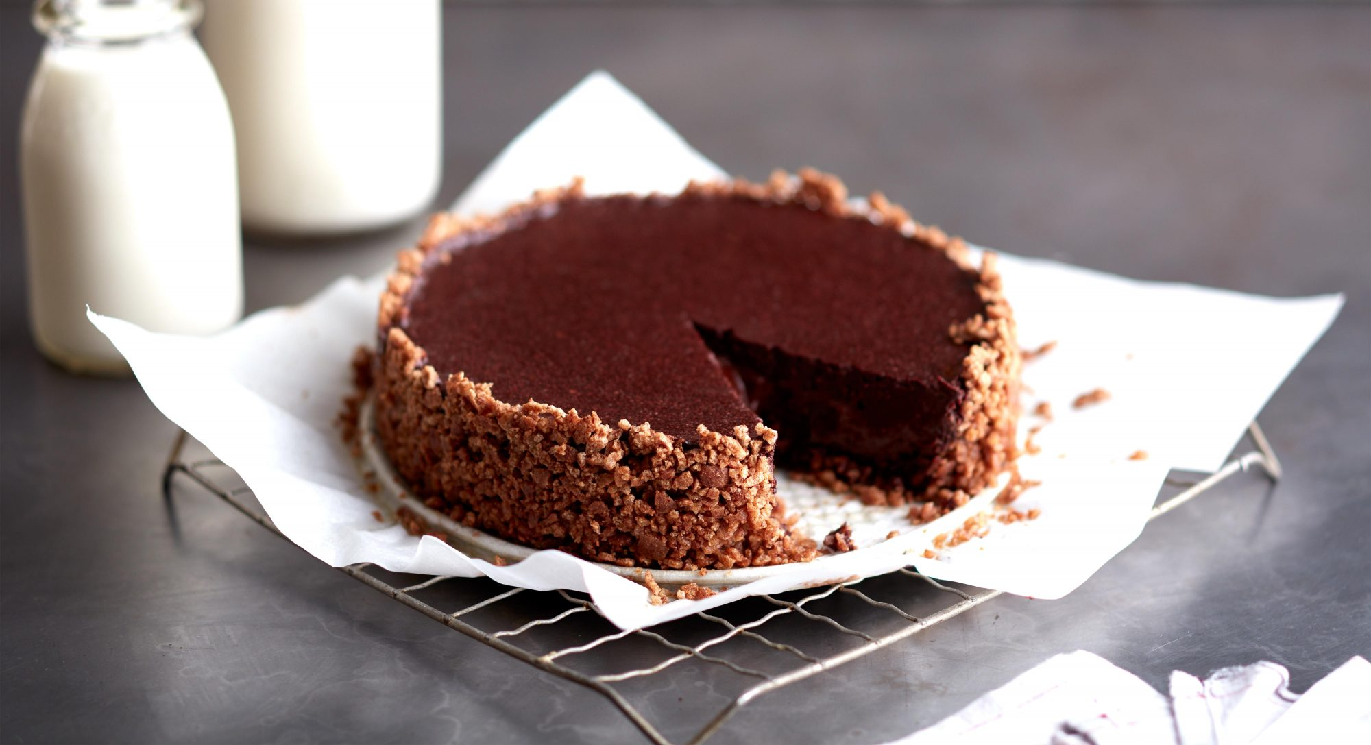 Salted Mexican Chocolate Pie With Cinnamon Cereal Crust Recipe