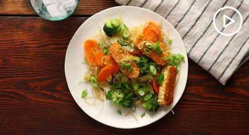 Tempeh, Vegetable, and Kelp Noodle Stir-Fry Recipe