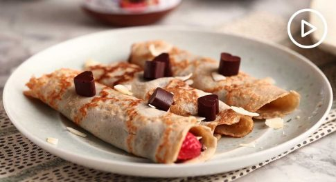 Chocolate Hazelnut Coconut Flour Crepes Recipe