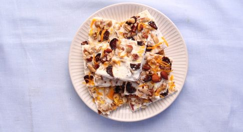 Frozen Yogurt Fig and Nut Bark Recipe