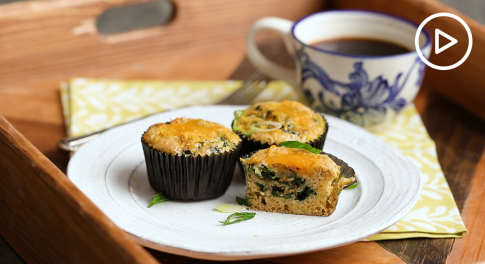 Egg and Spinach Breakfast Muffins Recipe