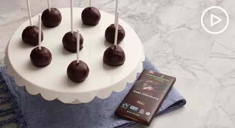Banana Chocolate-Covered Cake Pops With Avocado Buttercream Frosting Recipe