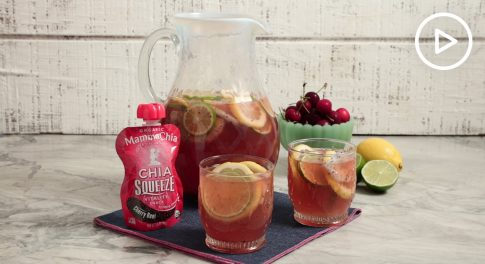 Chia Cherry Rosé Sangria Recipe