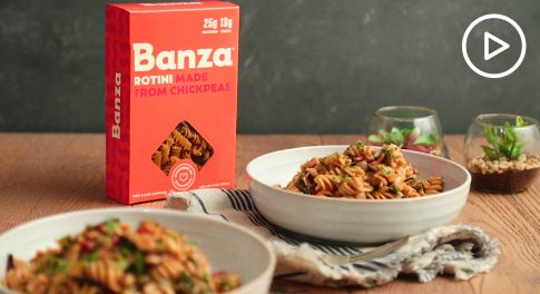 Banza Rotini One-Pot Kale and Mushroom Pasta Recipe